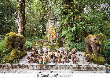 Temple at the top of Doi Inthanon (2565 meters), nothern Thailand