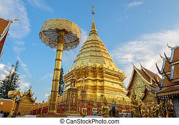Doi Suthep temple, landmark of Chiang Mai, Thailand - Wat ...
