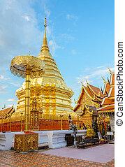 Doi Suthep temple, landmark of Chiang Mai, Thailand