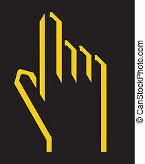 doigt, icône