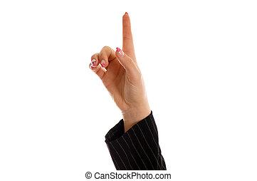 doigt indique, haut