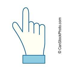 doigt indique, main