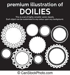 doilies, vector