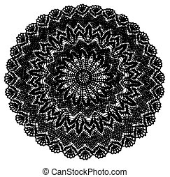 doily, crochet