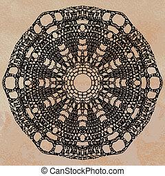 doily, elegante, lacy