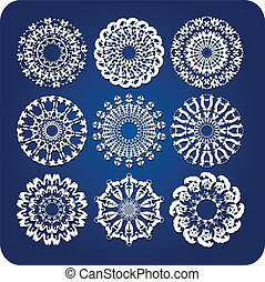 Doily or snowflake design vector se