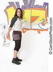 Doing a graffiti