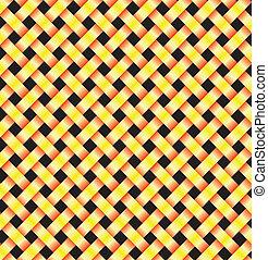 dois, abstratos, amarela, linhas
