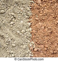 dois, cor, solo, fundo