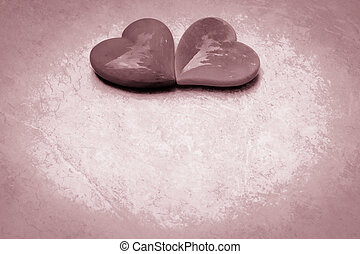 dois corações, unido