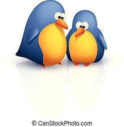 dois, cute, pássaros