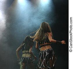 dois, dançarinos
