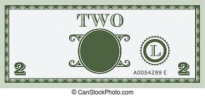 dois, dinheiro, conta, imagem