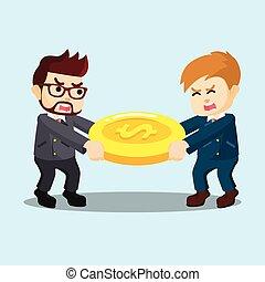 dois, empresários, dinheiro, competion