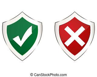 dois, escudos