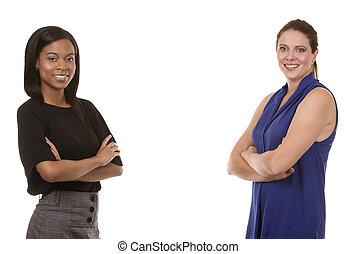 dois, mulheres negócio