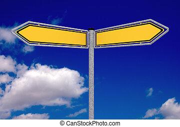 dois, sinais tráfego
