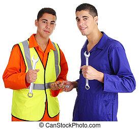 dois, trabalhadores