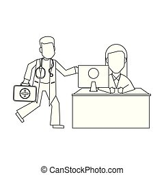 Doktor Buro Lizenzfreie Vektor Clip Art 6 820 Doktor Buro Clipart