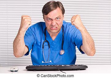 doktor, computer