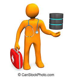 doktor, hos, database