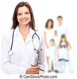doktor, i, rodzina