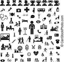doktor, ikone, und, klinikum