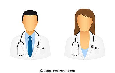 doktor, ikony