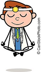 doktor, -, ilustracja, wektor, profesjonalny, rozmyślanie, rysunek
