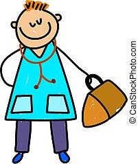 doktor, kind