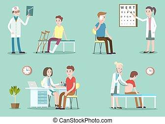 doktor patient, messender blutdruck