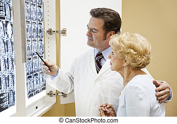 doktor, patient, prøve resulterer
