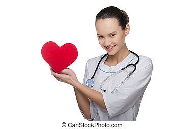 doktor stethoscope, behalten, a, valentines