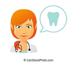 doktor, weibliche , zahn