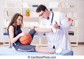 doktor, wpływy, lekkoatletyka, człowiek, krzywda, troska