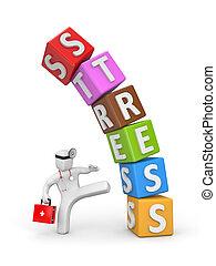 doktoren, defeats, den, stress