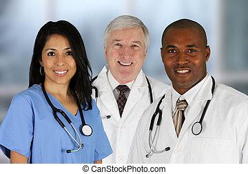 doktoren, und, krankenschwester