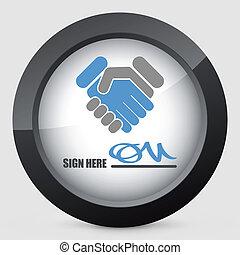 dokument, abkommen, zeichen