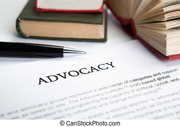 dokument, advocacy, tytuł