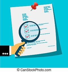 dokument, analyse, begriff