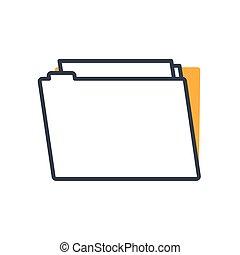 dokument, datei, ikone, büroordner, freigestellt