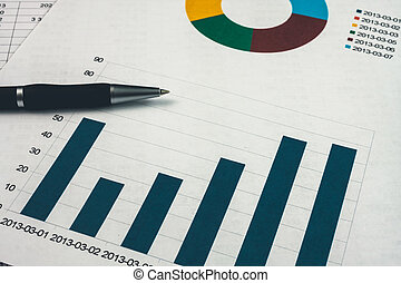 dokument, finansiell, affär, uppe, rapport, workplace, nära