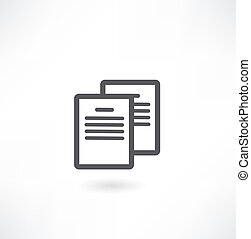 dokument, ikon