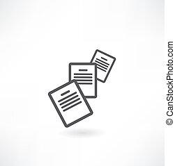 dokument, ikona