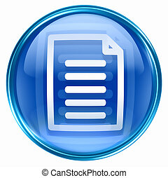 dokument, ikone, blaues