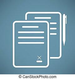 dokument, ikone