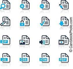 //, dokument, ikonen, serie, -, 1, azur
