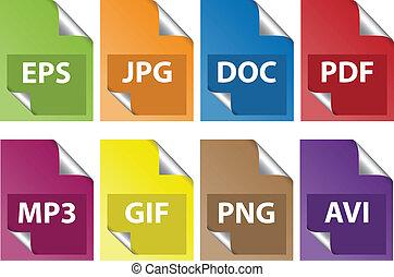 dokument, ikony