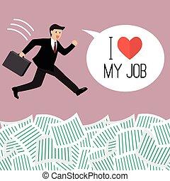dokument, ord, jobb, affärsman, lott, under, kärlek, min