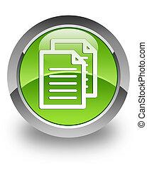 dokument, połyskujący, ikona